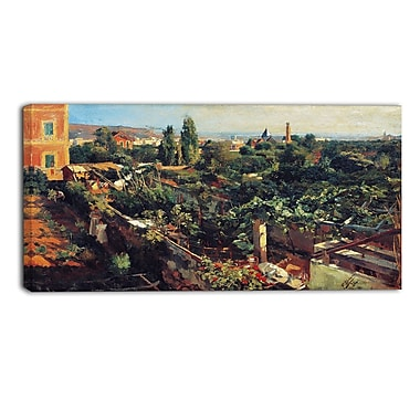 Designart – Imprimé sur toile, paysage, Les vignes, Francesc Gimeno (PT4379-32-16)