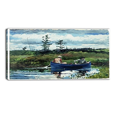 Designart Winslow Homer, The Blue Boat Canvas Art Print, (PT5021-32-16)