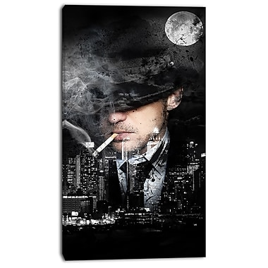 Design Art Moonlight Smoke Street Art Canvas Artwork