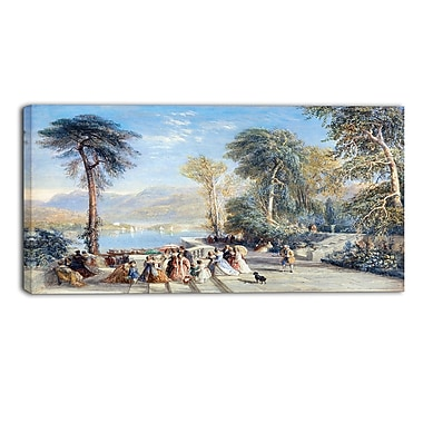 Designart David Cox, Windermere During the Regatta Landscape Canvas Arwork, (PT4288-40-20)