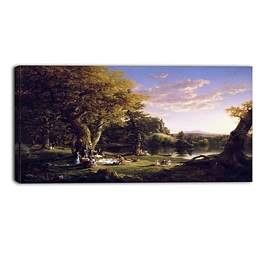 Designart Thomas Cole, The Pic-Nic Canvas Art Print, (PT4942-32-16)