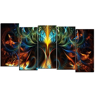 Designart Never Ending 5-Panel Abstract Canvas Art Print, (PT3010-1084)