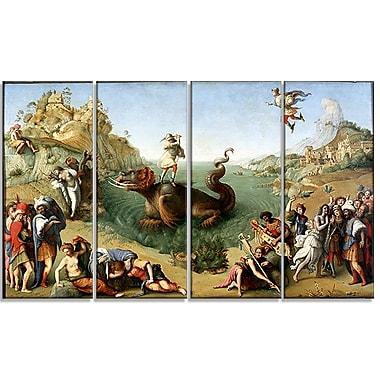 Designart Piero di Cosimo, Perseus Freeing Andromeda Canvas Art Print, (PT4847-271)