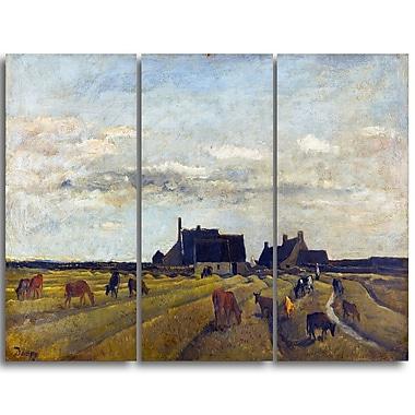 Designart – Toile imprimée, Paysage ferme à Kerity, Charles-Francois (PT4223-3P)