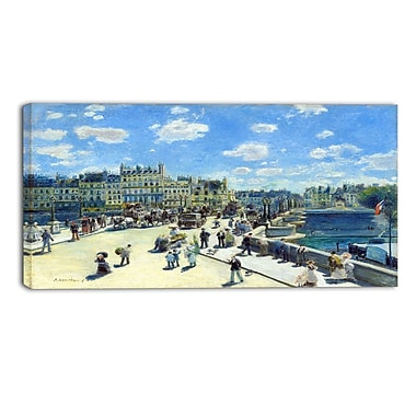 Designart Auguste Renoir, Pont Neuf Paris Sea & Shore Canvas Art Print, (PT4165-32-16)