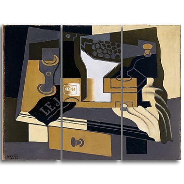 Designart Juan Gris, Coffee Grinder Canvas Art Print, (PT4677-3P)