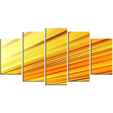 Designart Speed of Light 5-Panel Abstract Canvas Art Print, (PT3091-373)