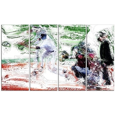 Designart Baseball Bases Loaded Canvas Art Print, (PT2573-271)