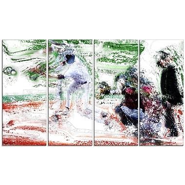 Designart – Buts de baseball pleins, imprimé sur toile