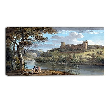 Designart Paul Sandby, Bothwell Castle from the South Sea & Shore Canvas Artwork, (PT4808-32-16)
