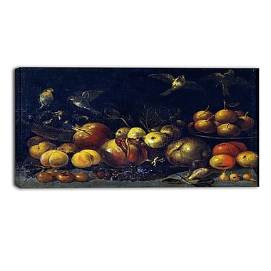 Designart Tommaso Realfonso, Still Life with Pomegranates Canvas Art Print, 3 Panels, (PT5028-40-20)