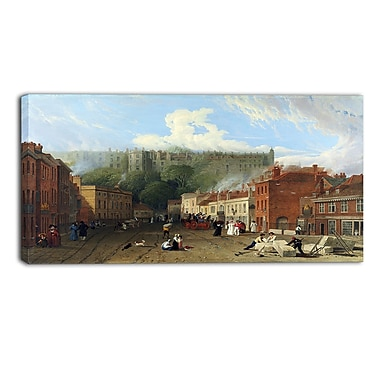 Design Art George Vincent, A View of Thames Street Landscape, impression sur toile