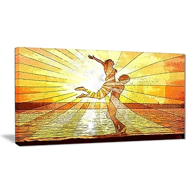 Designart – Art sensuel imprimé sur toile, rayons de lumière (PT2914-32-16)