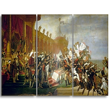 Designart Jacques Louis David, Army takes an Oath to Emperor Canvas Art Print, (PT4535-3P)
