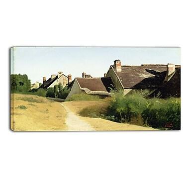 Designart Camille Corot, Houses near Orleans Landscape Canvas Arwork, (PT4185-32-16)
