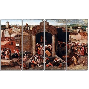 Designart – Toile imprimée de Pieter Bruegel « Jésus chassant les vendeurs du temple » (PT4858-271)