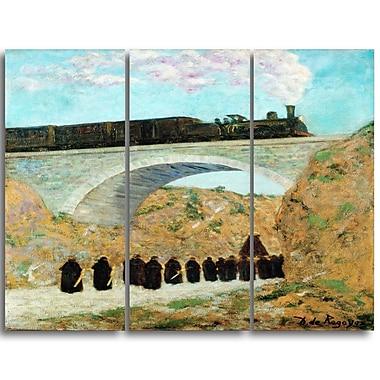 Designart – Imprimé sur toile, Vendredi Saint en Castille de Dario de Regoyos, 3 panneaux (PT4278-3P)