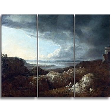Designart Benjamin Barker, View of the River Severn Master Piece Landscape Artwork, (PT4171-3P)