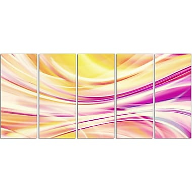 Designart Candy Stripes Canvas Print Set, (PT3004-401)