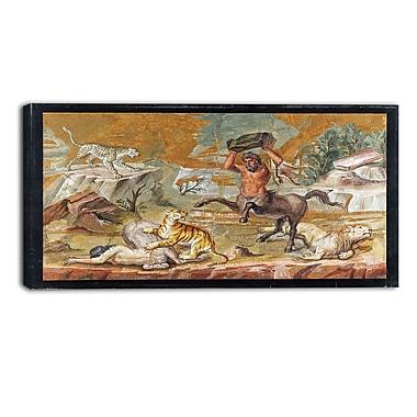 Designart – Imprimé sur toile, Mosaïque d'un centaure (PT4218-32-16)