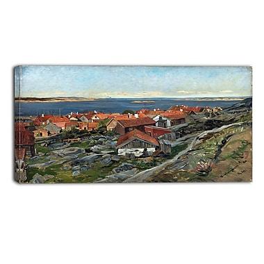 Designart – Gerhard Munthe, View of Nevlunghavn imprimée sur toile panoramique (PT4442-32-16)