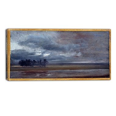 Designart JC Dahl, The Elbe in Rain Canvas Art Print, (PT4566-32-16)