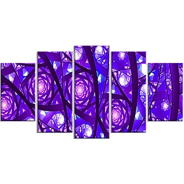 Designart Enchanted Purple Stars Contemporary Canvas Art, (PT3050-373)
