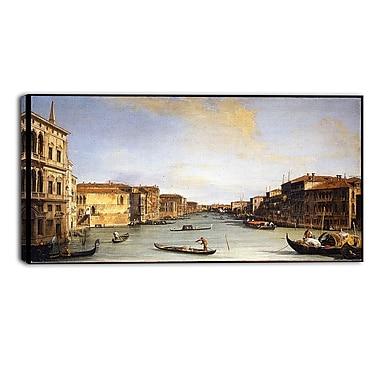 Designart Canaletto, View of the Grand Canal Canvas Art Print, (PT4205-40-20)