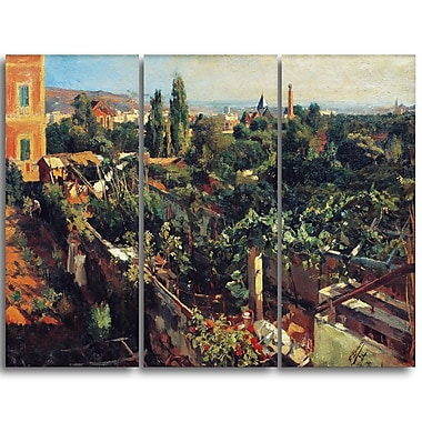 Designart Francesc Gimeno, The Grapevines Landscape Canvas Art Print, (PT4379-3P)