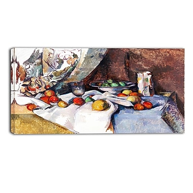 Designart Paul Cezanne, Nature Morte Canvas Art Print, 3 Panels, (PT4780-40-20)