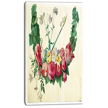 Designart Johannes Simon Holtzbecher, Blomsterranke Canvas Art Print, 3 Panels, (PT4628-16-32)
