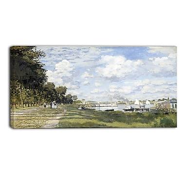 Designart Claude Monet, Bassin dArgenteuil Landscape Canvas Arwork, (PT4246-40-20)