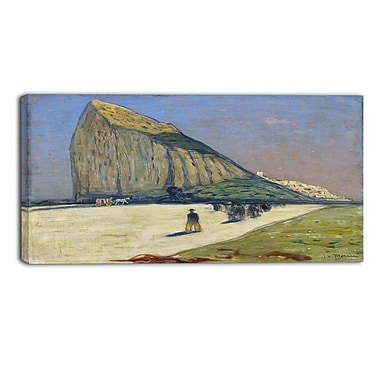 Designart James Wilson Morrice, Gibraltar Sea & Shore Canvas Artwork, (PT4547-32-16)