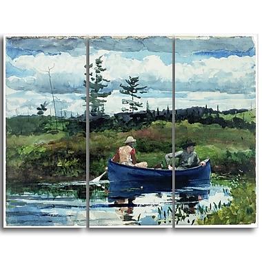 Designart – Toile imprimée, Le bateau bleu, Winslow Homer (PT5021-3P)