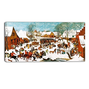 Designart Pieter Bruegel, Massacre of the Innocents Canvas Art Print, (PT4865-40-20)