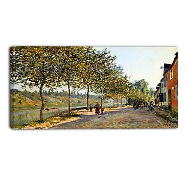 Designart Alfred Sisley, June Morning in Saint-Mammes Master Piece Landscape Artwork, (PT4131-32-16)