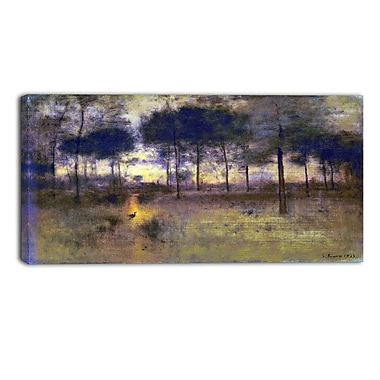 Designart George Inness, The Home of the Heron Landscape Canvas Art Print, (PT4417-32-16)