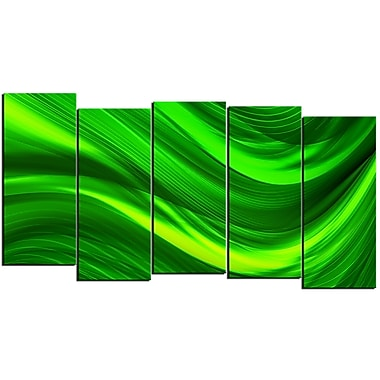 Designart Green Laser 5-Panel Modern Canvas Art Print, (PT3038-1084)