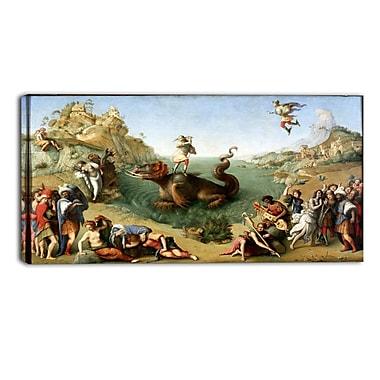 Designart Piero di Cosimo, Perseus Freeing Andromeda Canvas Art Print, (PT4847-32-16)