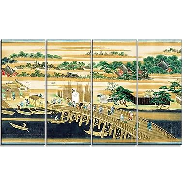 Designart – Imprimé sur toile, Sumiyoshi, au long de la rivière Sumida