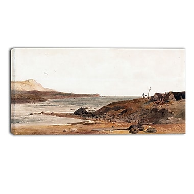 Designart Peter DeWint, Coast Scene Large Sea & Shore Canvas Art, (PT4829-32-16)