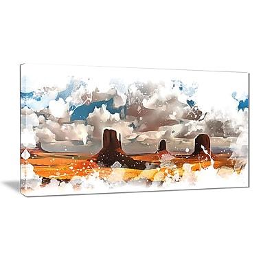 Designart – Imprimé sur toile, Monument Valley (PT2816-32-16)