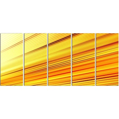 Designart Speed of Light 5-Panel Abstract Canvas Art Print, (PT3091-401)
