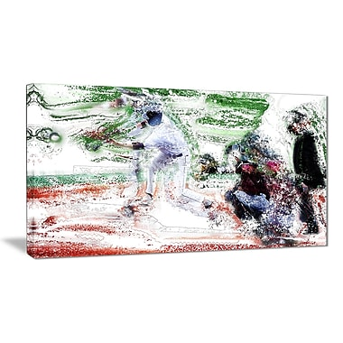 Designart Baseball Bases Loaded Canvas Art Print, (PT2573-32-16)