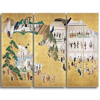 Designart – Hishikawa Moronobu, scènes du théâtre kabuki Nakamura, illustration de paysage (PT4505-3P)