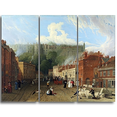 Designart George Vincent, A View of Thames Street Landscape Canvas Art Print, (PT4422-3P)