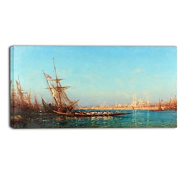 Designart Felix Ziem, View of Istanbul Canvas Art Print, (PT4373-40-20)