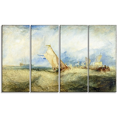 Designart JMW Turner, Going About to Please his Masters Canvas Art Print, (PT4611-271)