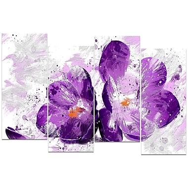 DEsignart – Grand tableau sur toile à motif de fleur mauve éclose, (PT3421-271)