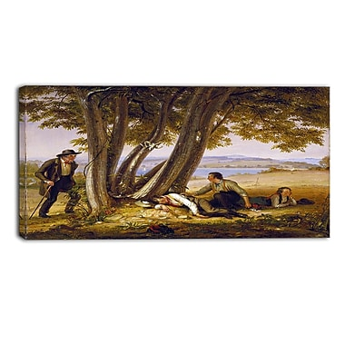 Designart William Sidney Mount, Boys Caugh Napping in a Field Canvas Art Print, (PT5016-32-16)